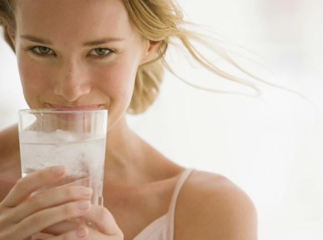 <b>Water<br><br>When to Drink:</b> At the Alarm Guzzle water, Dr. Lodge suggests. Hydrating will help beat that groggy feeling and make your skin look its glowy best (both now and later in life), says David E. Bank, M.D., a dermatologist in Mount Kisco, New York