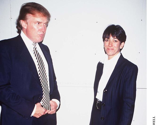 Donald Trump with Ghislaine Maxwell.