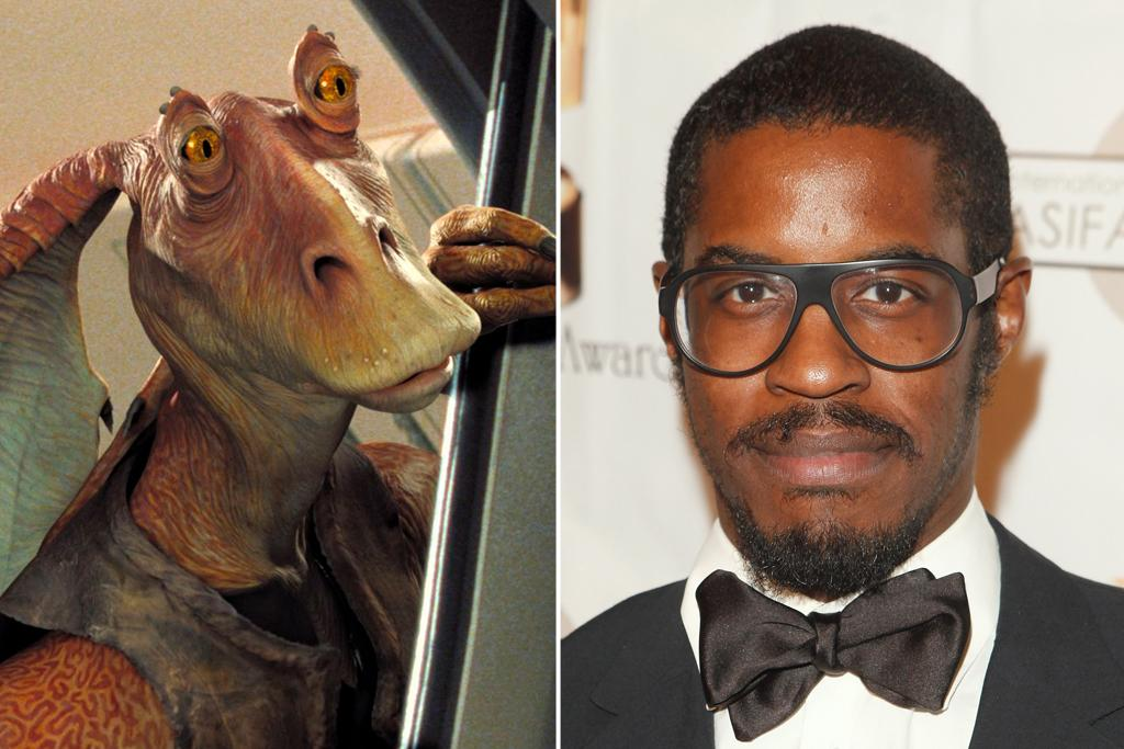 "Ahmed Best – Jar Jar Binks <br><br>Best has the distinction of playing one of the worst characters in the entire ""Star Wars"" galaxy, or at least one of the most hated. Best was discovered when he was a member the ""Stomp"" theater troupe and picked by Lucas to do the voice and be the model for the computer-generated Gungan, Jar Jar Binks. Lucas thought Binks would be the most popular character of the new prequels, but alas, that wasn't the case; and ever the businessman, Lucas greatly diminished Best's part in the next two prequels. It's hard to feel bad for Best, though, as he continues to collect residuals on the three films, as well as on a number of ""Star Wars"" cartoons featuring his incredibly annoying voice."
