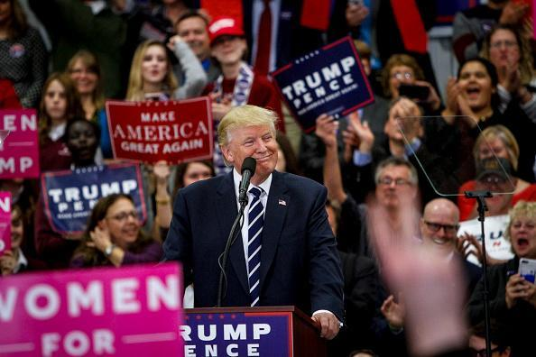 Republican presidential candidate Donald Trump speaks at a rally in Maine on October 28, 2016. (Photo: Sarah Rice via Getty Images)