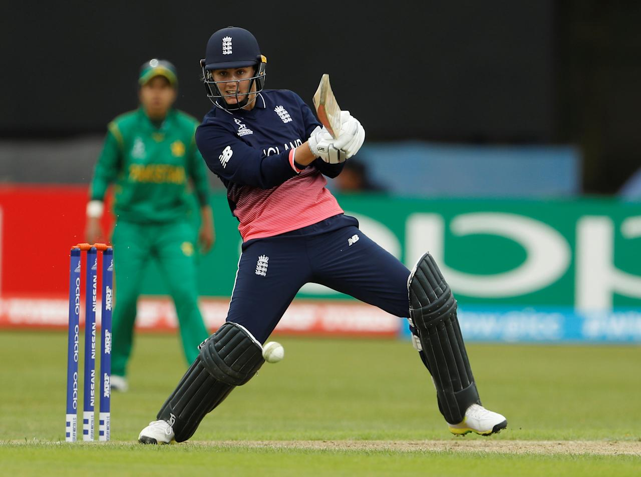 Cricket - England vs Pakistan - Women's Cricket World Cup - Leicester, Britain - June 27, 2017   England's Natalie Sciver in action    Action Images via Reuters/Lee Smith