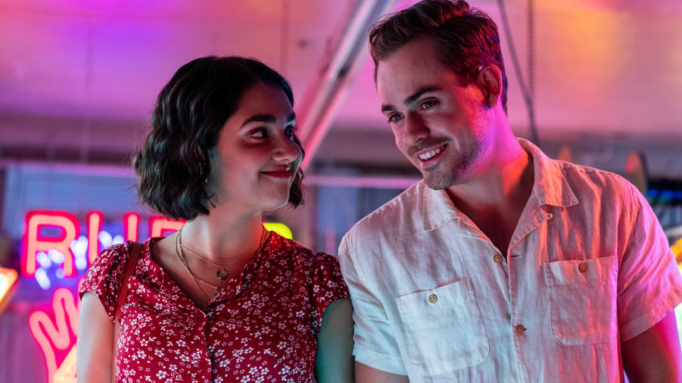 Geraldine Viswanathan and Dacre Montgomery star in 'The Broken Hearts Gallery'. (Credit: George Kraychyk/TriStar Pictures)
