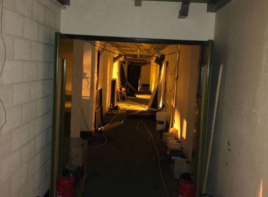 Police had to wait for suspects to leave until they raided the 'impenetrable' facility (Picture: REX Features)