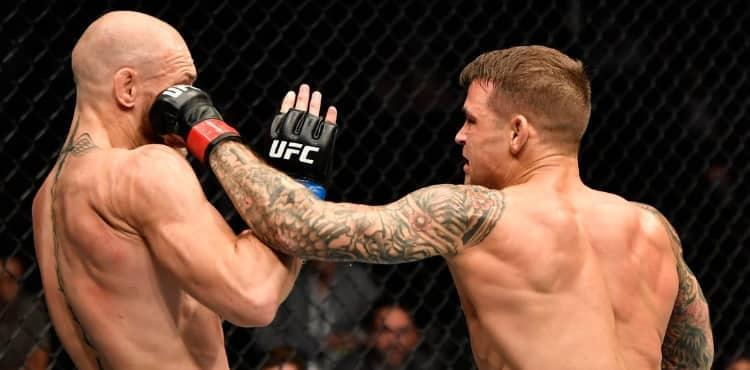 Dustin Poirier cracks Conor McGregor at UFC 257