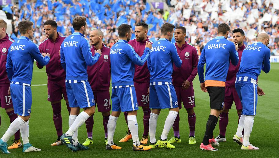 <p>One game into their first top flight season since the early 1980s, Brighton are still waiting for their first ever goal of the Premier League era after facing Manchester City on matchday one.</p> <br /><p>The Seagulls could hardly have asked for a tougher opening fixture, but gave a more than respectable account of themselves, making City work for the 2-0 score-line. They'll now be looking to a trip to Leicester for their first goal and points.</p>