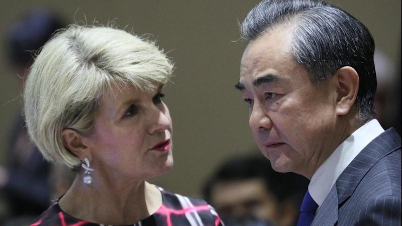 Julie Bishop and Chinese Foreign Minister Wang Yi met in Singapore on the weekend