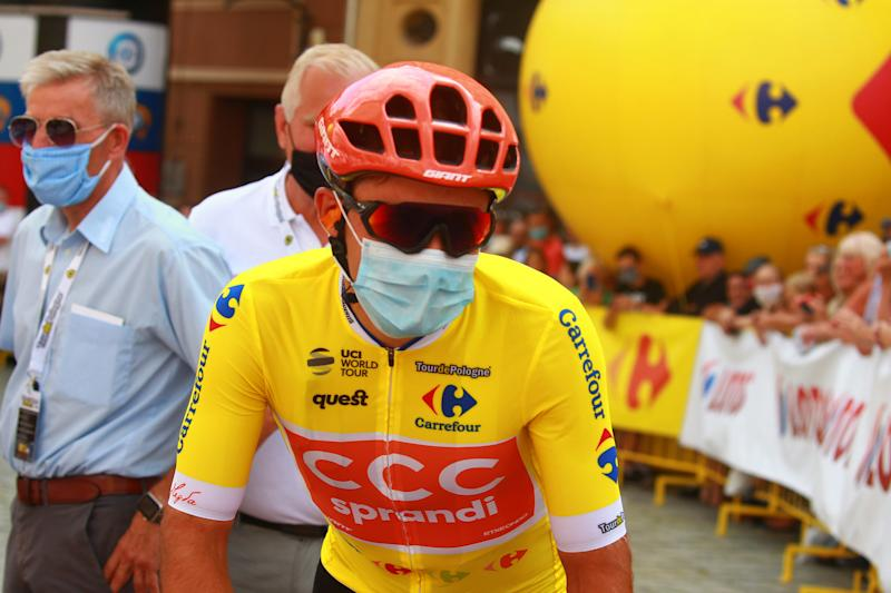 Kamel Malecki of CCC Team wore the leader's jersey on stage 2