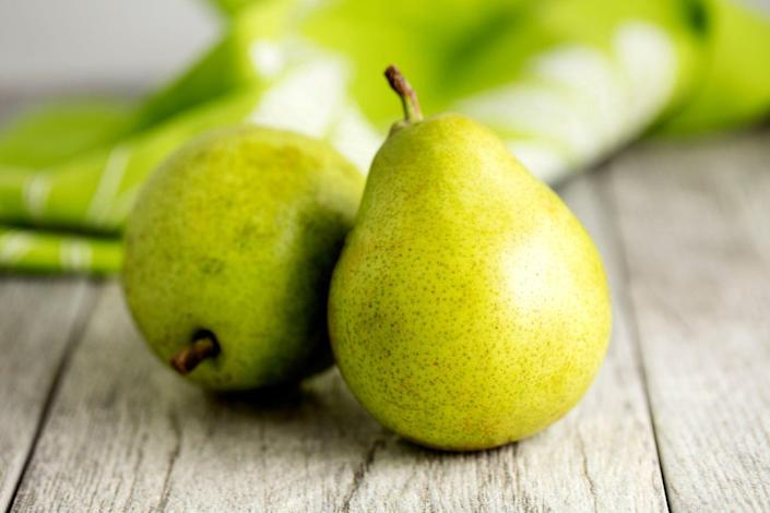 """<p>""""Pears are fantastic for constipation,"""" says Cording. They're high in fiber—particularly soluble fiber, which can be helpful at bulking up your poop, she says.</p>"""