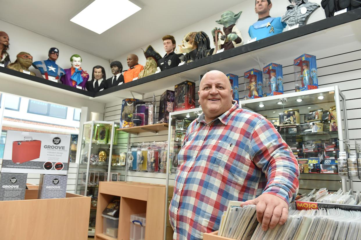 In 2018, Adrian Bayford re-opened the record shop he ran before scooped his 2012 £148m jackpot. (SWNS)