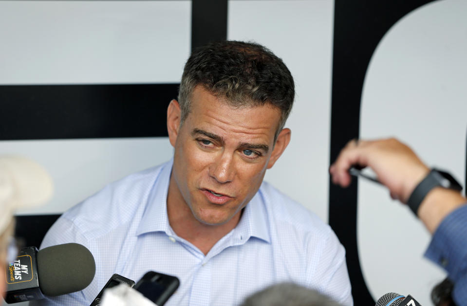 Ex-Cubs and Red Sox executive Theo Epstein will be a consultant in the commissioner's office. (Photo by Nuccio DiNuzzo/Getty Images)