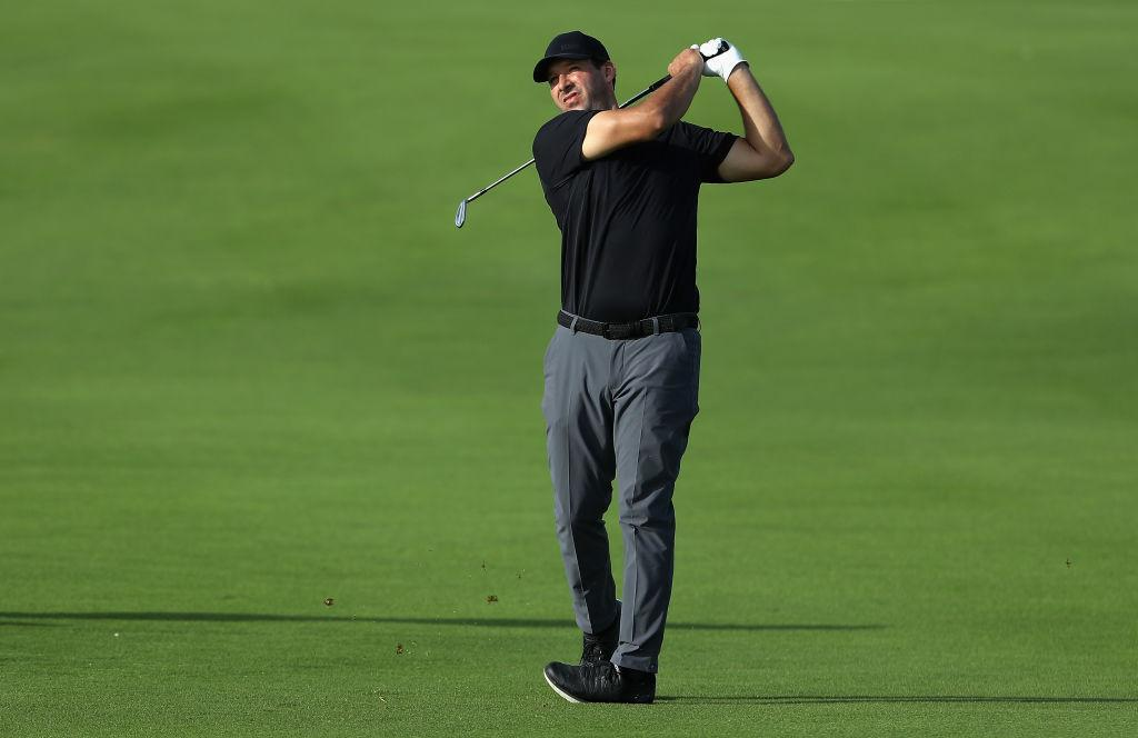 Tony Romo on the course! (Getty)