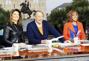Norah O'Donnell, Charlie Rose and Gayle King | Photo Credits: Heather Wines/CBS