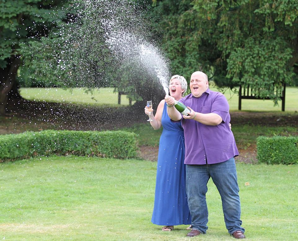 Adrian and Gillian Bayford, who won £148.6million on the EuroMillions in 2012. (Rex)