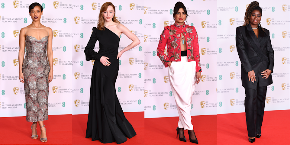 <p>The British Academy Film and Television Arts Awards (AKA the BAFTAs) are officially underway at Royal Albert Hall and, rather than being another virtual red carpet, some of your favourite on-screen celebrities are attending the event in person. </p><p>From Bridgerton actress Phoebe Dynevor's one-shoulder black gown to Priyanka Chopra and Nick Jonas' couple look, it's a small but star-studded red carpet. So whaddya waiting for? Scroll through to see the best-dressed celebrities from the 2021 BAFTAs.</p>