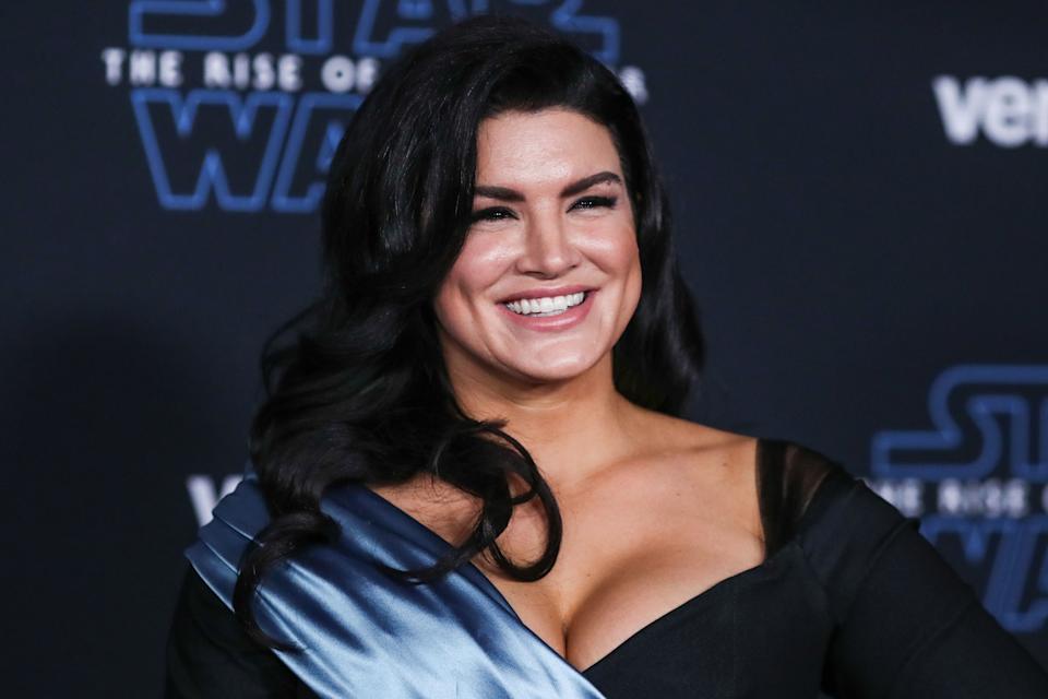 HOLLYWOOD, LOS ANGELES, CALIFORNIA, USA - DECEMBER 16: Actress Gina Carano arrives at the World Premiere Of Disney's 'Star Wars: The Rise Of Skywalker' held at the El Capitan Theatre on December 16, 2019 in Hollywood, Los Angeles, California, United States. (Photo by Xavier Collin/Image Press Agency/Sipa USA)