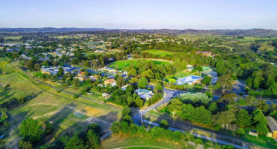 An arial view of Yass.