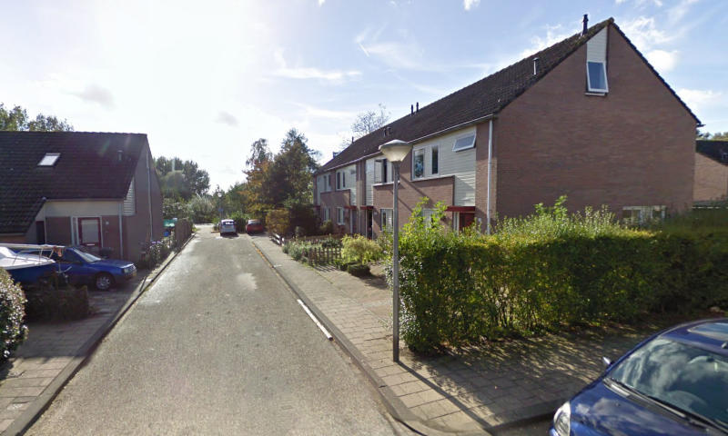 The row of homes in a quiet cul-de-sac where the family lived next door to Josef B. Source: Google Maps