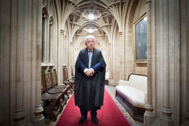 John Bercow during his days as speaker of the House of Commons (Stefan Rousseau/PA)