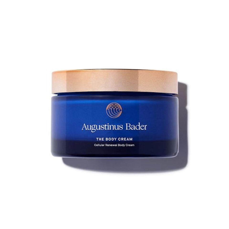 """You've probably heard about the <a href=""""https://www.glamour.com/story/augustinus-bader-the-cream-review?mbid=synd_yahoo_rss"""" rel=""""nofollow noopener"""" target=""""_blank"""" data-ylk=""""slk:cult-favorite face cream"""" class=""""link rapid-noclick-resp"""">cult-favorite face cream</a> from <a href=""""https://www.glamour.com/gallery/best-augustinus-bader-products?mbid=synd_yahoo_rss"""" rel=""""nofollow noopener"""" target=""""_blank"""" data-ylk=""""slk:Augustinus Bader"""" class=""""link rapid-noclick-resp"""">Augustinus Bader</a>, and this firming formula for the body is right on par. It uses the same innovative stem cell technology as the moisturizer, and is definitely worth the splurge. Slather it on right after you dry off from the tub, and say goodbye to parched winter skin. $165, Augustinus Bader. <a href=""""https://shop-links.co/1726726390203692527"""" rel=""""nofollow noopener"""" target=""""_blank"""" data-ylk=""""slk:Get it now!"""" class=""""link rapid-noclick-resp"""">Get it now!</a>"""