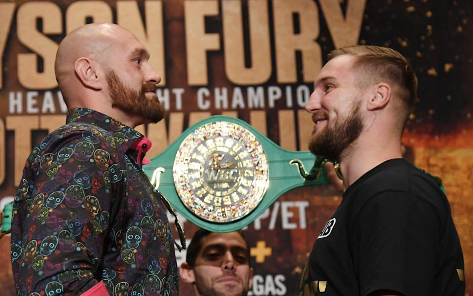 Tyson Fury and Otto Wallin meet in a heavyweight bout on Saturday night at T-Mobile Arena, Las Vegas - Getty Images North America