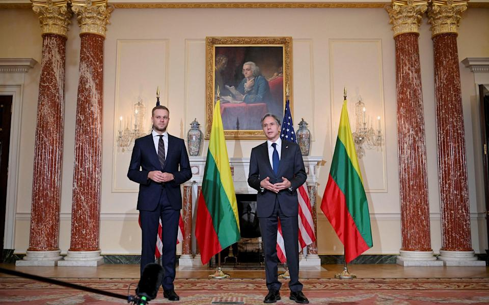 Lithuania's foreign minister met this week with the US secretary of state - Reuters