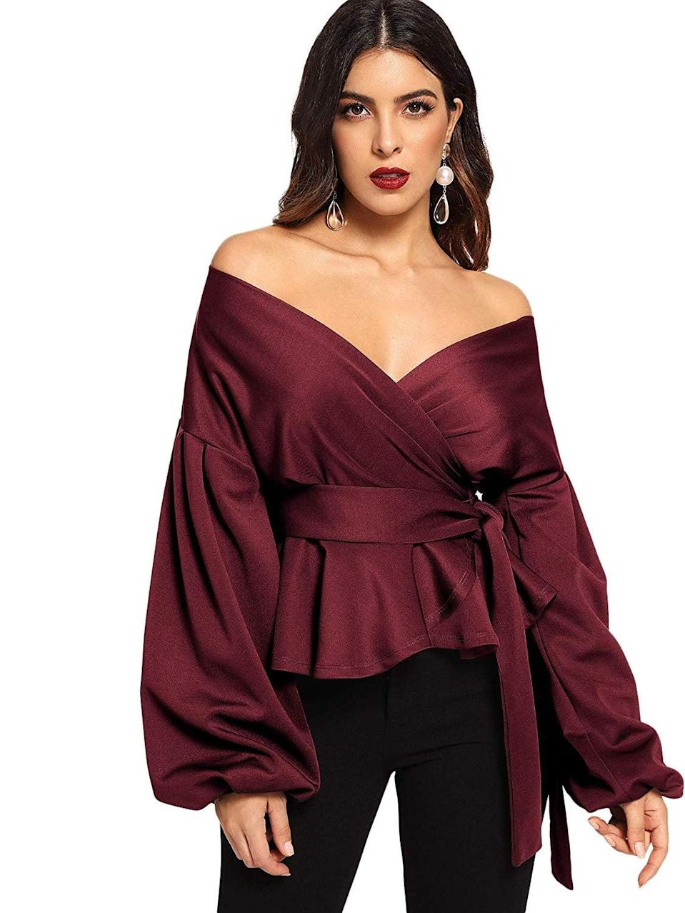 "<p>Forget your sexy college ""party tops,"" and look for one that you wouldn't be embarrassed to wear in front of your parents. That doesn't mean it can't show a little skin, but opt for more luxe fabrics and pretty details, like this <a href=""https://www.popsugar.com/buy/Shein-top-551951?p_name=Shein%20top&retailer=amazon.com&pid=551951&price=35&evar1=fab%3Aus&evar9=34097656&evar98=https%3A%2F%2Fwww.popsugar.com%2Ffashion%2Fphoto-gallery%2F34097656%2Fimage%2F34097667%2FDate-Night-Top&list1=shopping%2Cstyle%20how%20to&prop13=mobile&pdata=1"" class=""link rapid-noclick-resp"" rel=""nofollow noopener"" target=""_blank"" data-ylk=""slk:Shein top"">Shein top</a> ($35), that feel more expensive. Trust us, your dates will approve, too.</p>"
