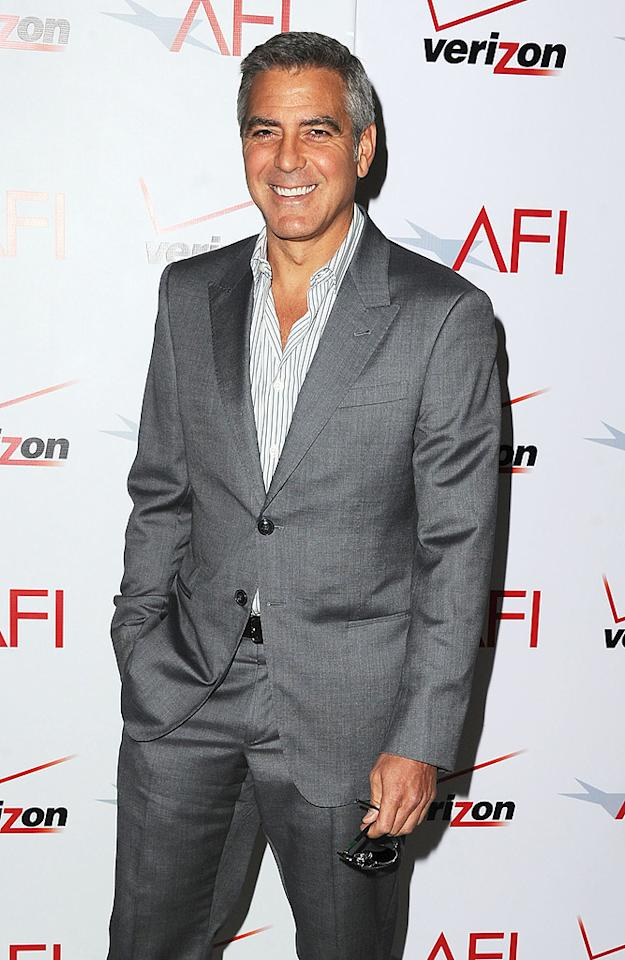 """<b>Celebrity Single Guys' Night Out Guest</b><br>His laid-back manner and his penchant for playing pranks on friends make George Clooney someone we'd all like to call our pal. The star of """"The Descendants"""" racked up 33 percent of the votes in this category, with actor Charlie Sheen (29 percent) hot on his heels. After all, a wild guy like Charlie can really shake things up! """"The Hangover's"""" Zach Galifianakis (14 percent), """"300's"""" Gerard Butler (9 percent), and """"How I Met Your Mother's"""" Jason Segel (8 percent) followed far behind."""