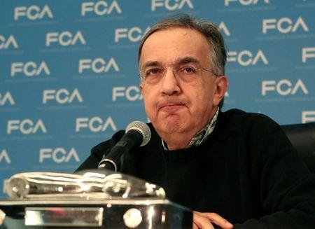 File photo of Fiat Chrysler Automobiles CEO Sergio Marchionne speaking during the North American International Auto Show in Detroit