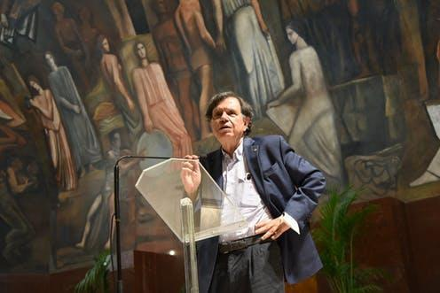 """<span class=""""caption"""">Giorgio Parisi's work has helped us tease predictable patterns from complexity.</span> <span class=""""attribution""""><a class=""""link rapid-noclick-resp"""" href=""""https://www.flickr.com/photos/sapienzaroma/51557499734/in/album-72157719977712512/"""" rel=""""nofollow noopener"""" target=""""_blank"""" data-ylk=""""slk:Sapienza Università di Roma/flickr"""">Sapienza Università di Roma/flickr</a>, <a class=""""link rapid-noclick-resp"""" href=""""http://creativecommons.org/licenses/by-nc-sa/4.0/"""" rel=""""nofollow noopener"""" target=""""_blank"""" data-ylk=""""slk:CC BY-NC-SA"""">CC BY-NC-SA</a></span>"""