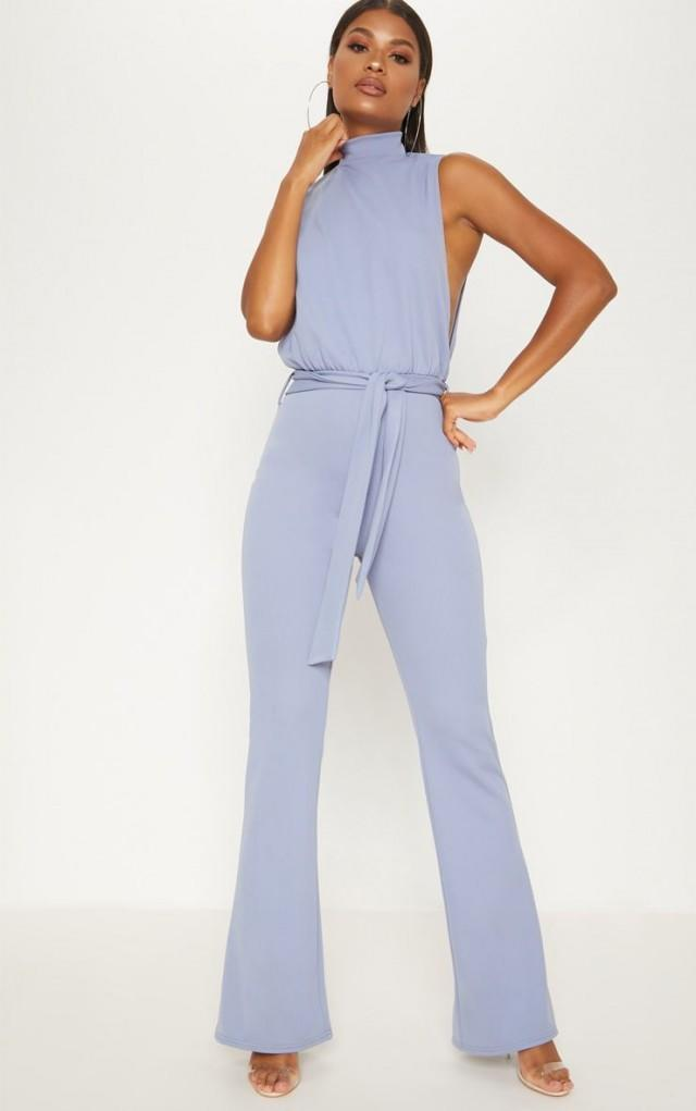 Pretty Little Thing light blue jumpsuit