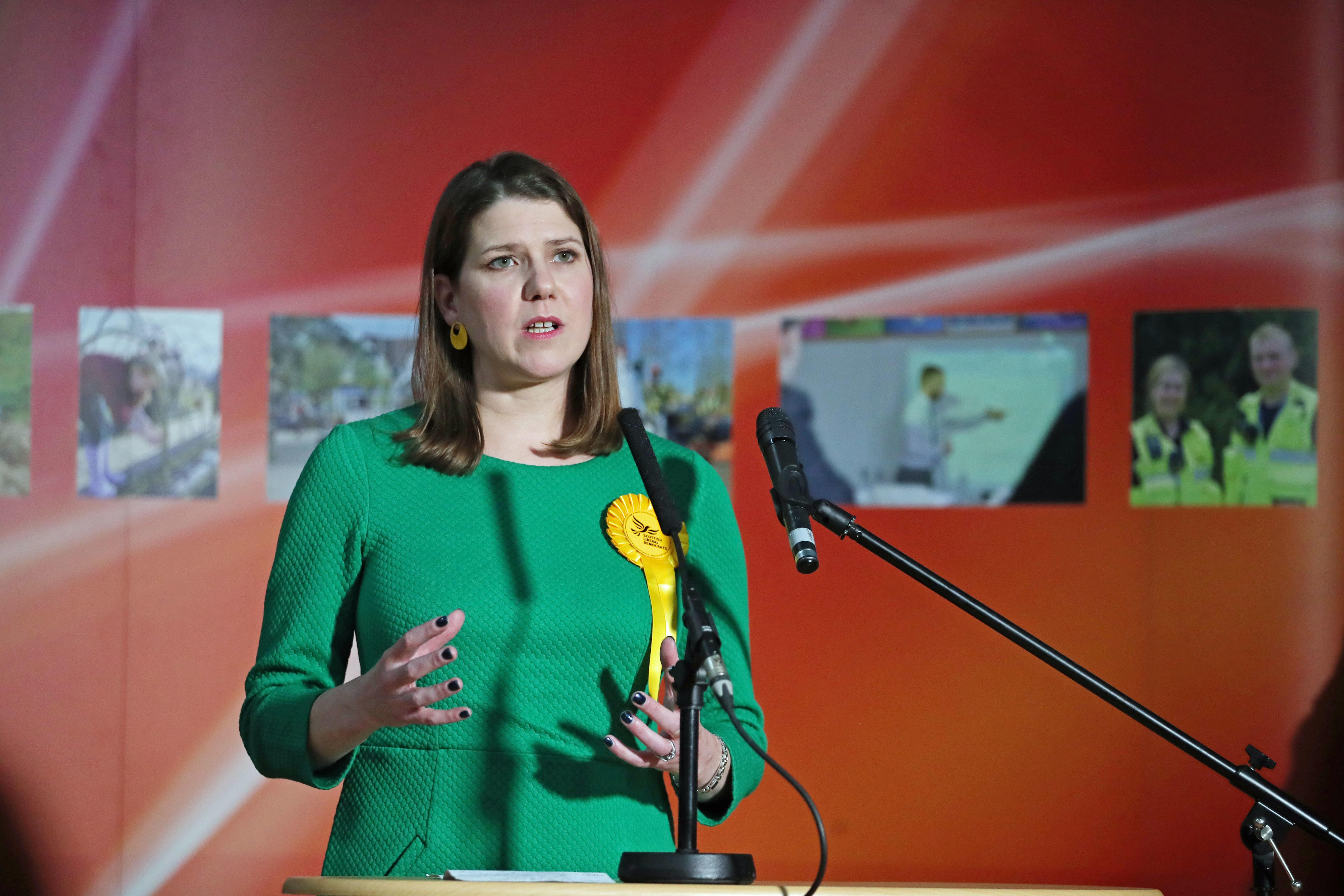 Lib Dem leader Jo Swinson reacts as she loses her East Dumbartonshire constituency, during the count at the Leisuredome, Bishopbriggs.