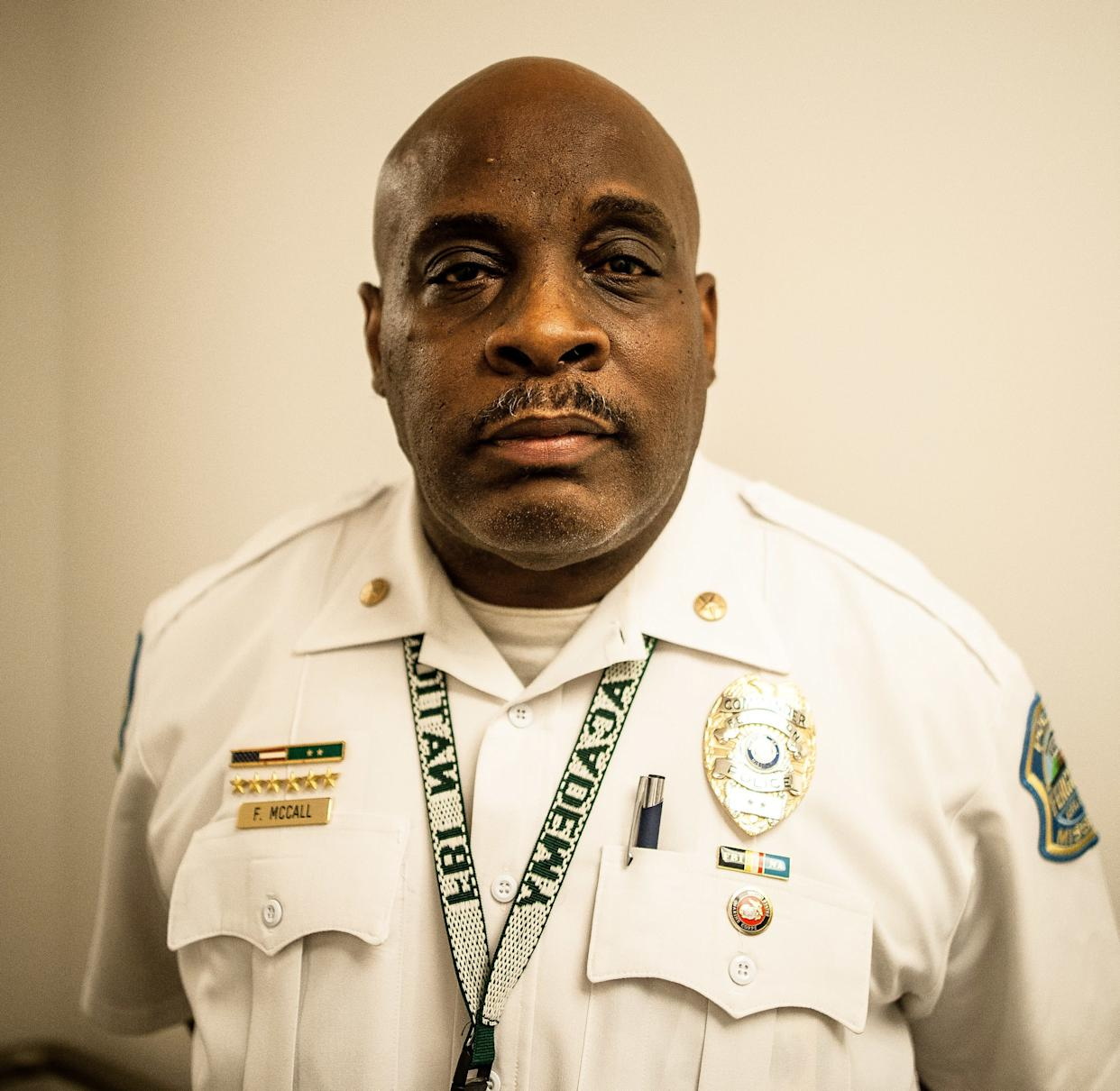 Frank McCall, a police commander in Ferguson, has overseen progress on the consent decree. (Photo: Joseph Rushmore for HuffPost)
