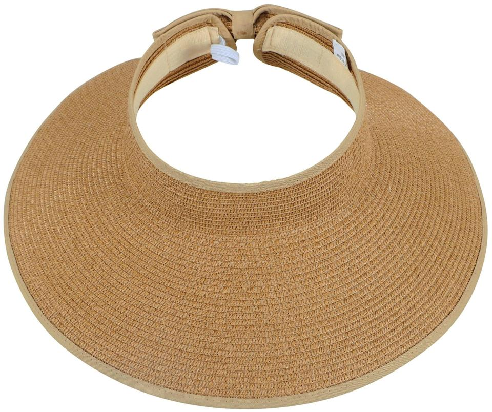 """<h2>28% Off Simplicity Roll-up Wide Brim Visor</h2><br>This dead-simple straw sun visor has been following us around Amazon for a few seasons now, but we never gave it much thought until we saw it advertised with a Prime Day deal. Then we noticed the (almost) 3,000 reviews; the 4.6-star rating; and the selection of colors that included this natural raffia, an ultra-chic black, an unexpected navy — <em>and</em> it rolls up easily for traveling? We're kinda sold.<br><br><em>Shop Simplicity at <strong><a href=""""https://amzn.to/3d0wQwS"""" rel=""""nofollow noopener"""" target=""""_blank"""" data-ylk=""""slk:Amazon"""" class=""""link rapid-noclick-resp"""">Amazon</a></strong></em><br><br><strong>Simplicity</strong> Wide Brim Roll-up Visor, $, available at <a href=""""https://amzn.to/35Ceq1E"""" rel=""""nofollow noopener"""" target=""""_blank"""" data-ylk=""""slk:Amazon"""" class=""""link rapid-noclick-resp"""">Amazon</a>"""