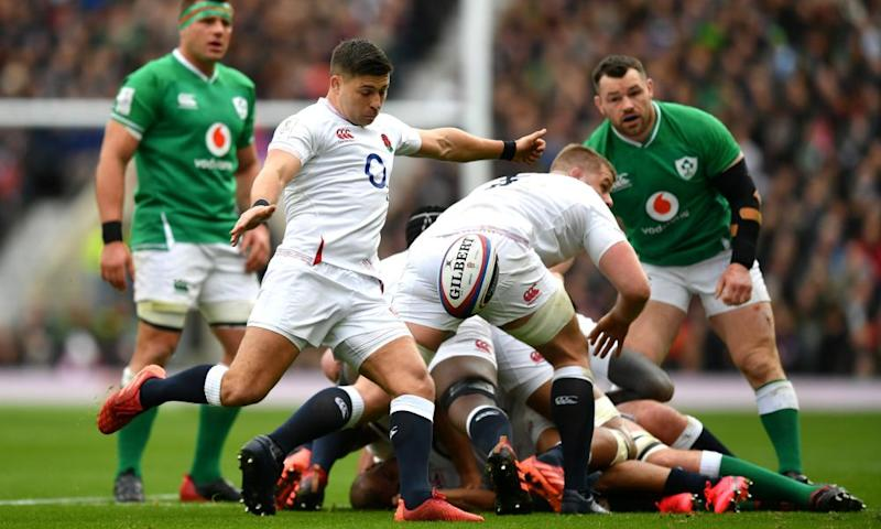 Ben Youngs set up England's first try for George Ford with a grubber kick that flustered Ireland's captain Johnny Sexton.