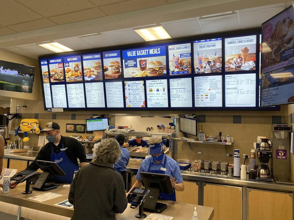 The cashiers at Culver's.