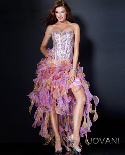 """<div class=""""caption-credit""""> Photo by: Jovani</div><a rel=""""nofollow noopener"""" href=""""http://www.jovani.com/prom-dresses/110621-9995"""" target=""""_blank"""" data-ylk=""""slk:Jovani 110621, $440"""" class=""""link rapid-noclick-resp""""><b>Jovani 110621, $440</b></a> <br> Re-wear this for Halloween as a """"sexy jellyfish."""" <br> <br>"""