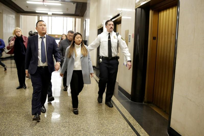 Inyoung You, a former Boston College student from South Korea, arrives to be arraigned on involuntary manslaughter