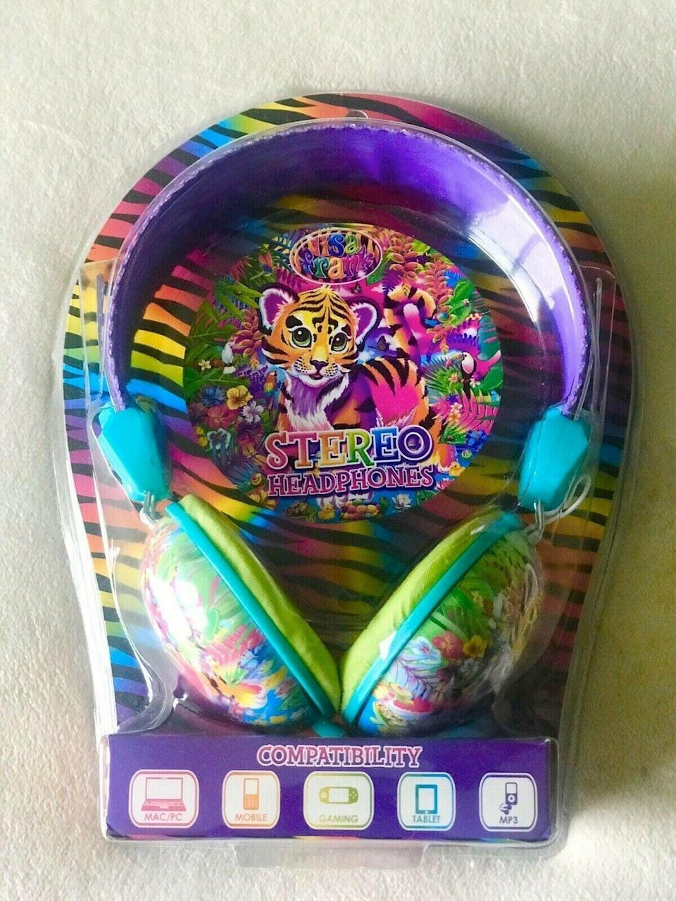 <p>No Christmas is complete without tiger-adorned <span>Lisa Frank Headphones</span> ($125). </p>