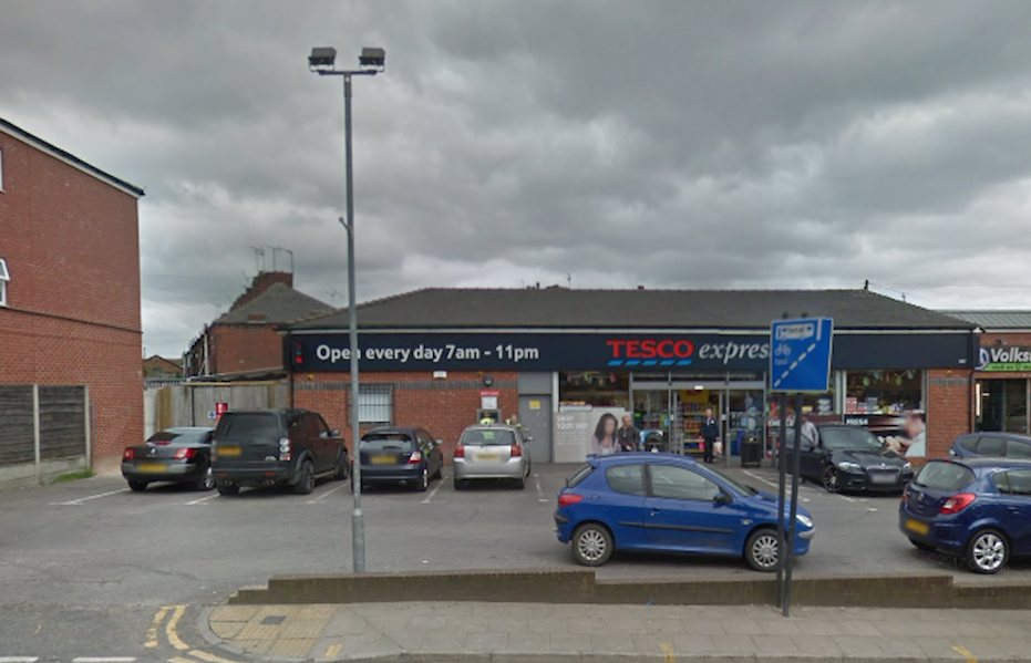 The Tesco Express in Oldham where the incident happened (Picture: Google)