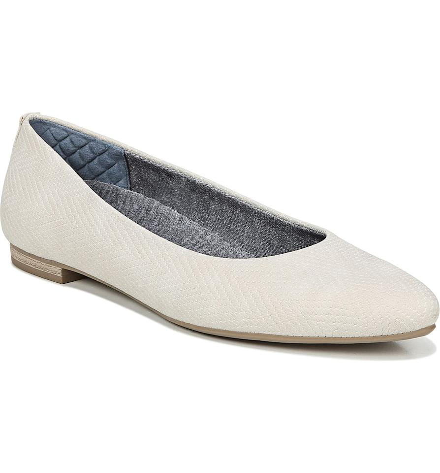 """<p>These <a href=""""https://www.popsugar.com/buy/Dr-Scholl-Kimber-Flats-483892?p_name=Dr.%20Scholl%27s%20Kimber%20Flats&retailer=shop.nordstrom.com&pid=483892&price=50&evar1=fab%3Aus&evar9=45636768&evar98=https%3A%2F%2Fwww.popsugar.com%2Fphoto-gallery%2F45636768%2Fimage%2F45636815%2FDr-Scholl-Aston-Flats&list1=shopping%2Cnordstrom%2Cfall%20fashion%2Cshoes%2Cflats%2Cfall%2Cdr.%20scholls&prop13=api&pdata=1"""" rel=""""nofollow"""" data-shoppable-link=""""1"""" target=""""_blank"""" class=""""ga-track"""" data-ga-category=""""Related"""" data-ga-label=""""https://shop.nordstrom.com/s/dr-scholls-aston-flat-women/5296600?origin=keywordsearch-personalizedsort&amp;breadcrumb=Home%2FAll%20Results&amp;color=beige%20faux%20leather"""" data-ga-action=""""In-Line Links"""">Dr. Scholl's Kimber Flats</a> ($50, originally $70) were specifically designed for comfortable all-day wear and have a memory-foam-cushioned sole. </p>"""