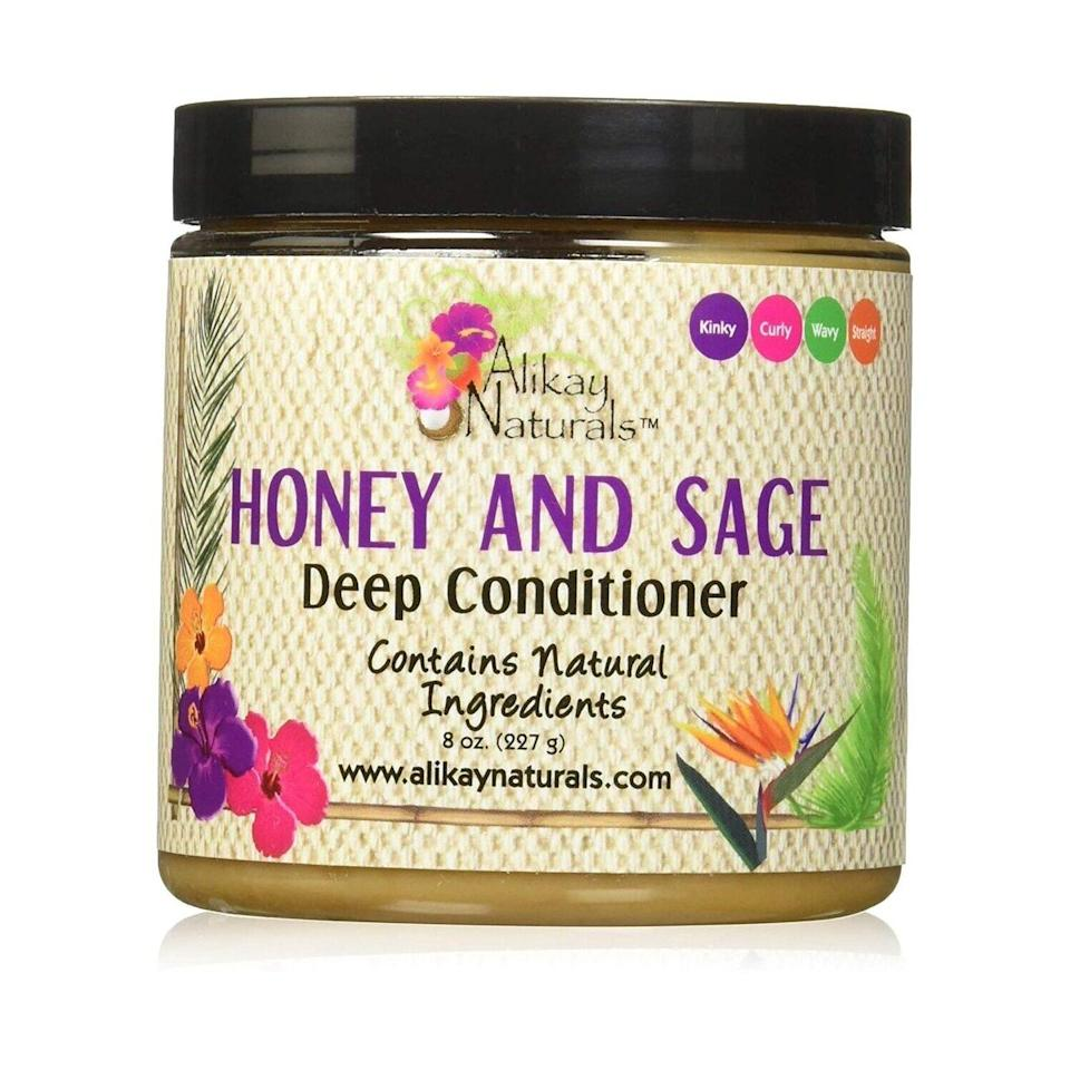 Use Alikay Naturals Honey and Sage Deep Conditioner before or after shampooing and conditioning to give damaged hair the boost of strength and softness it so desperately needs. In addition to the titular sage, honey and babassu oil in the formula help replenish moisture.