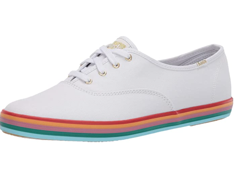 Keds Womens Champion Rainbow Foxing Fashion Sneakers. Image via Amazon.