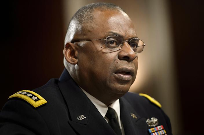 Four-star General Lloyd Austin is reportedly on the short list to be Joe Biden's defence secretary (AFP via Getty Images)