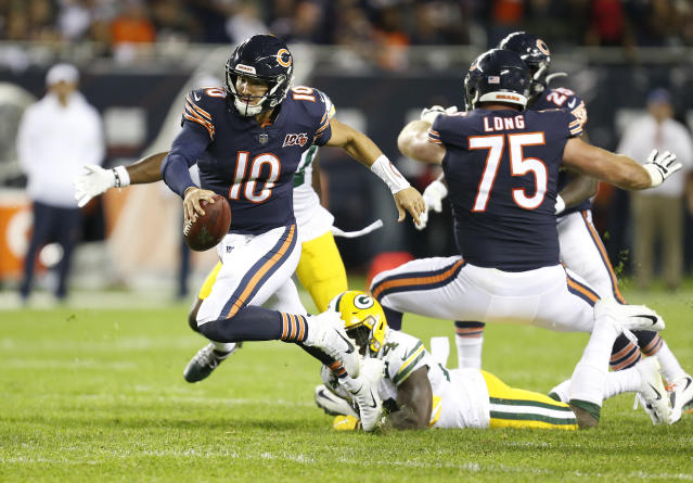 Mitch Trubisky and the Chicago Bears' offense were impotent in an opening-night loss to the Green Bay Packers. (Getty)