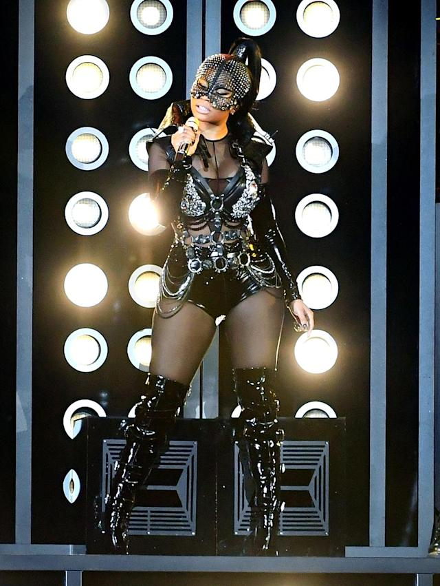 <p>Nicki Minaj performs onstage during the 2017 Billboard Music Awards at T-Mobile Arena on May 21, 2017 in Las Vegas, Nevada. (Photo by Ethan Miller/Getty Images) </p>
