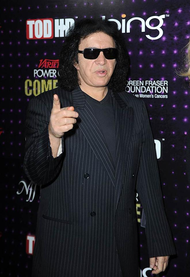 """Former KISS singer Gene Simmons' eccentric and dramatic personality found just the right medium when he took on TV! The 61-year-old and his brood took center stage on """"Gene Simmons: Family Jewels,"""" but the hard rockin' man was on his own on Donald Trump's """"Celebrity Apprentice"""" in 2008. He didn't come close to winning, but Gene managed to get a lot of attention. Frazer Harrison/<a href=""""http://www.gettyimages.com/"""" target=""""new"""">GettyImages.com</a> - December 4, 2010"""