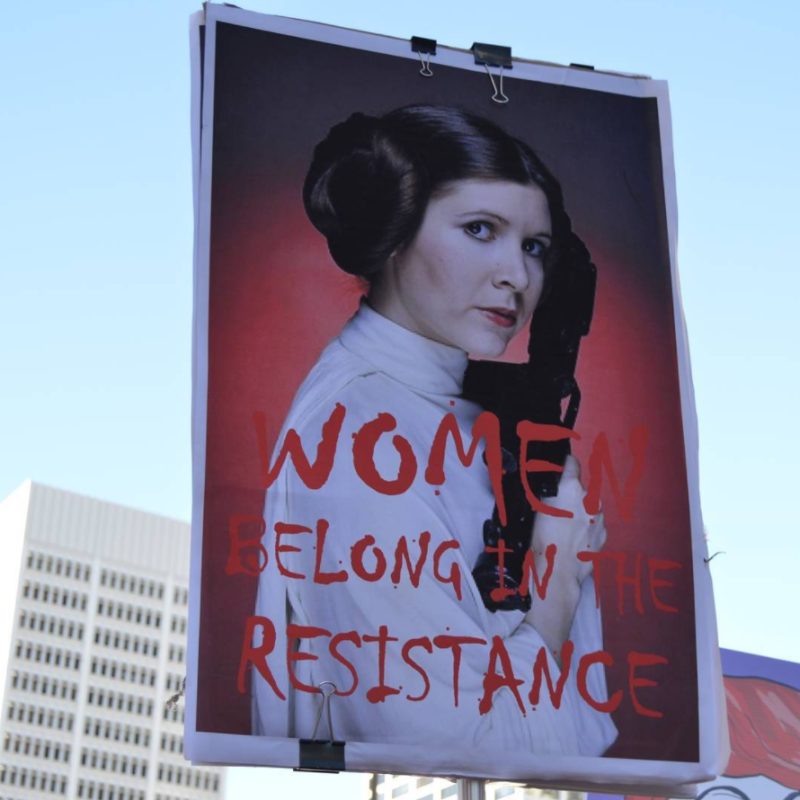 Carrie Fisher was all over the Women's March, and Mark Hamill's response has us in tears