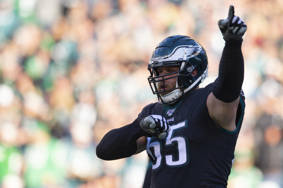 Lane Johnson and the Philadelphia Eagles have reportedly agreed to a contract extension. (Mitchell Leff/Getty Images)