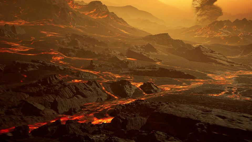 <p>Artistic impression of the surface of the newly discovered hot super-Earth Gliese 486b</p> (RenderArea, https://renderarea.com)
