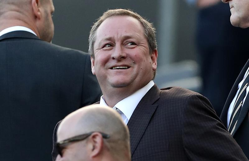 Newcastle United owner Mike Ashley in the stands during the Premier League match at St James' Park, Newcastle. (Photo by Owen Humphreys/PA Images via Getty Images)